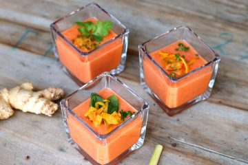 soupe froide de tomate gingembre citronnelle soja