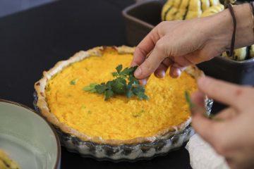 tarte potiron parmesan et persil